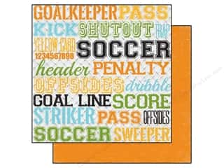 Echo Park 12 x 12 in. Paper Goal Soccer Words (15 piece)