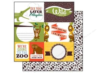 Echo Park 12 x 12 in. Paper Day At The Zoo Journaling (15 piece)