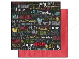 Calendars Clearance Crafts: Echo Park 12 x 12 in. Paper My Life Collection Calendar Words (15 pieces)