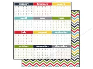 Calendars Black: Echo Park 12 x 12 in. Paper My Life Collection Calendar Months (15 pieces)
