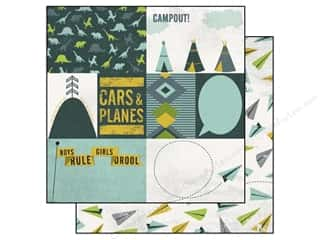 Brothers $4 - $6: Echo Park 12 x 12 in. Paper Boys Rule Collection Cars & Planes (15 pieces)