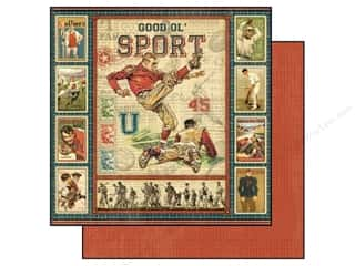 button: Graphic 45 Paper 12x12 Good Ol' Sport (25 piece)