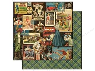 Scoring: Graphic 45 Paper 12x12 Good Ol' Sport Big Score (25 piece)
