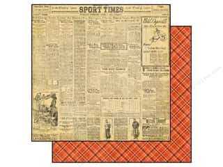 Graphic 45 Paper 12x12 Good Ol' Sport Newsworthy (25 piece)