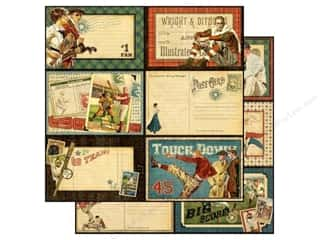 Graphic 45 Paper 12x12 Good Ol' Sport Touchdown (25 piece)
