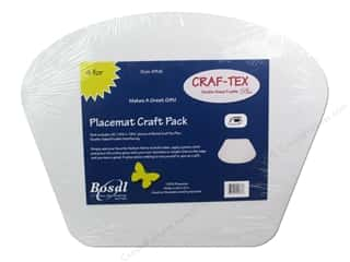 Iron-On Interfacing / Iron-On Stabilizer: Bosal Craf-Tex Plus 14 1/4 x 18 1/2 in. Placemat 4 pc.