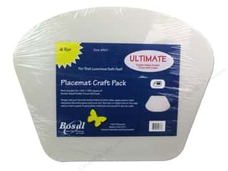 Iron-On Interfacing / Iron-On Stabilizer: Bosal Ultimate 14 1/4 x 18 1/2 in. Placemat 4 pc.
