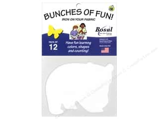 Bosal Craf-Tex Shapes 3 1/2 x 4 1/2 in. Panda 12 pc.