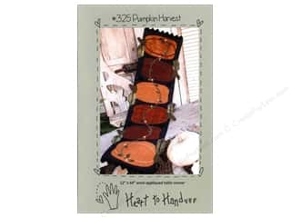 Deezines Table Runners / Kitchen Linen Patterns: Heart To Hand Pumpkin Harvest Table Runner Pattern