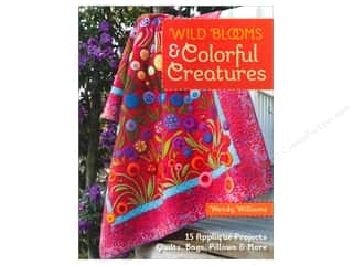 "Wool 11"": C&T Publishing Wild Blooms & Colorful Creatures Book by Wendy Williams"