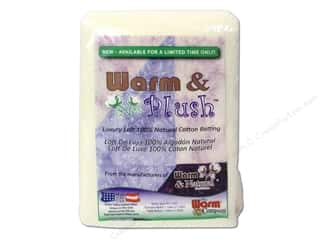 Warm & Natural batting: Warm & Plush Cotton Batting 45 x 60 in. Baby
