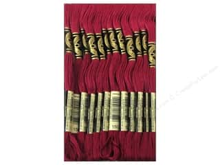 Clearance Blumenthal Favorite Findings: DMC Six-Strand Embroidery Floss #150 Ultra Very Dark Dusty Rose (12 skeins)