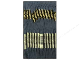 Staple Black: DMC Six-Strand Embroidery Floss #413 Dark Pewter Grey (12 skeins)