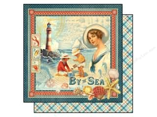 "Beach & Nautical Sale: Graphic 45 Paper 12""x 12"" By The Sea (25 pieces)"