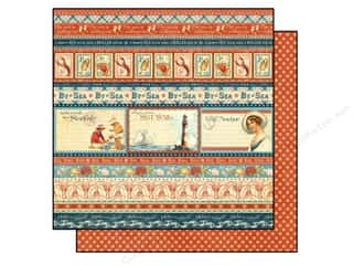 "Beach & Nautical Fall Sale: Graphic 45 Paper 12""x 12"" By The Sea Splash (25 pieces)"