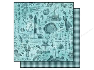 "Beach & Nautical Sale: Graphic 45 Paper 12""x 12"" By The Sea My Anchor (25 pieces)"