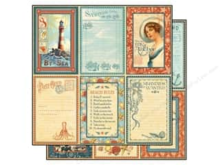 "Beach & Nautical Fall Sale: Graphic 45 Paper 12""x 12"" By The Sea Sand & Surf (25 pieces)"