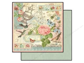 Stamped Goods Pink: Graphic 45 Paper 12x12 Botanical Tea (25 pieces)