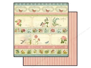 Spring Borders: Graphic 45 Paper 12x12 Botanical Tea Hello Friend (25 pieces)