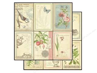 Scrapbooking Brown: Graphic 45 Paper 12x12 Botanical Tea Love Notes (25 pieces)
