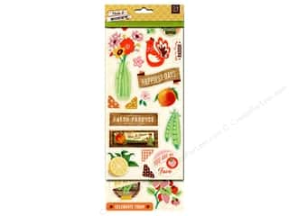 BasicGrey Chipboard Shape Stickers Herbs & Honey