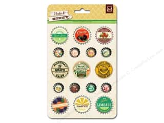 BasicGrey Bottle Cap Stickers Herbs & Honey