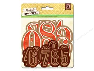 BasicGrey BasicGrey Die-Cuts: BasicGrey Die-Cut Shapes Herbs & Honey Numbers Jumbo