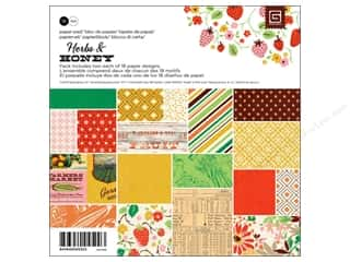 Fruit & Vegetables paper dimensions: BasicGrey Paper Pad 6 x 6 in. Herbs & Honey 36 pc.