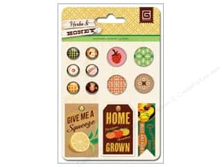 Fruit & Vegetables Scrapbooking & Paper Crafts: BasicGrey Mixed Brads 13 pc. Herbs & Honey