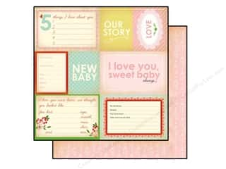 Carta Bella 12 x 12 in. Paper Baby Mine Girl Our Story (25 piece)