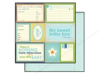 Carta Bella 12 x 12 in. Paper Baby Mine Boy Sweet Baby (25 piece)