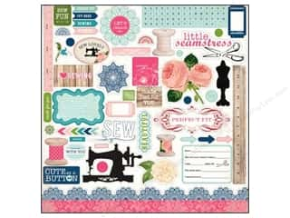 Carta Bella Caption Stickers / Frame Stickers: Carta Bella Sticker 12 x 12 in. Sew Lovely Element (15 pieces)
