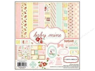 Sisters Crafting Kits: Carta Bella Collection Kit 12 x 12 in. Baby Mine Girl