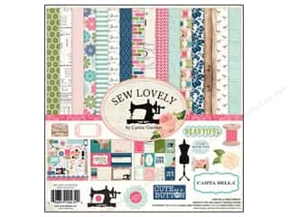 Carta Bella Carta Bella Collection Kit: Carta Bella Collection Kit 12 x 12 in. Sew Lovely