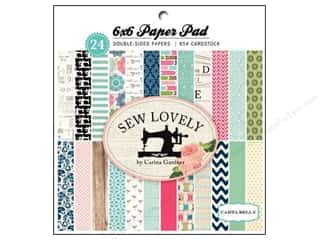 Carta Bella 6 x 6 in. Paper Pad Sew Lovely