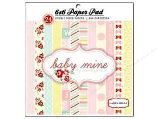 Carta Bella inches: Carta Bella 6 x 6 in. Paper Pad Baby Mine Girl
