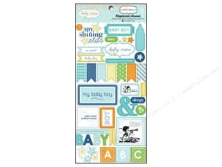Carta Bella Dimensional Stickers: Carta Bella Chipboard Accents Baby Mine Adhesive Boy