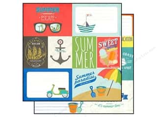 "Summer Hot: Simple Stories Paper 12""x 12"" Summer Paradise Elements #1 (25 pieces)"