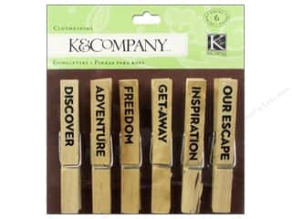 K&Co Embel TC Travel Clothespins