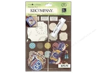 K & Company Hot: K&Company Embellishments Tim Coffey Travel Ephemera Pack