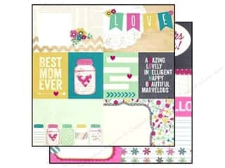 "Mother's Day Clearance Crafts: Simple Stories Paper 12""x 12"" Hey Mom Elements #1 (25 pieces)"