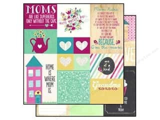 "Mothers Clearance Crafts: Simple Stories Paper 12""x 12"" Hey Mom Elements #2 (25 pieces)"