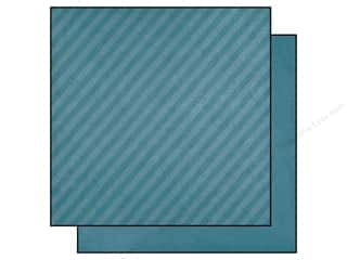 "Charms Blue: Simple Stories Paper 12""x 12"" A Charmed Life Stripes Teal (25 pieces)"