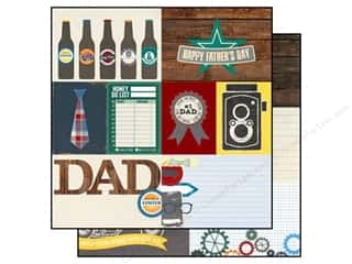 "dad & gray blue: Simple Stories Paper 12""x 12"" Hey Pop Elements #1 (25 pieces)"