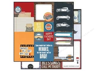 "dad & gray blue: Simple Stories Paper 12""x 12"" Hey Pop Elements #2 (25 pieces)"