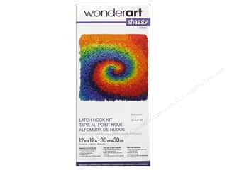 tie dye kit: Wonderart Latch Hook Kit 12 x 12 in. Shaggy Small Tie Dye