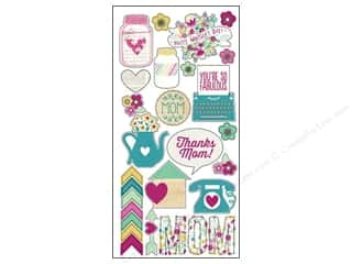 Mother's Day Flowers: Simple Stories Sticker Hey Mom Fundamentals