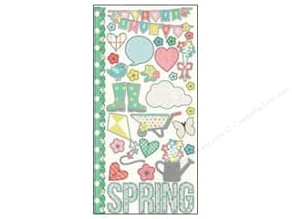 Captions Spring: Simple Stories Sticker Fresh Air Fundamentals