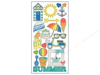 theme stickers  summer: Simple Stories Sticker Summer Pdise Fundamentals