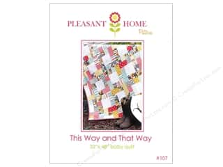 Charms Baby: Pleasant Home This Way And That Way Baby Quilt Pattern